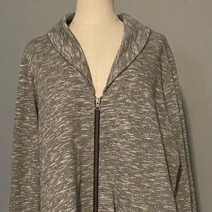 NWT woman's sweatshirt fabric zippered blazer